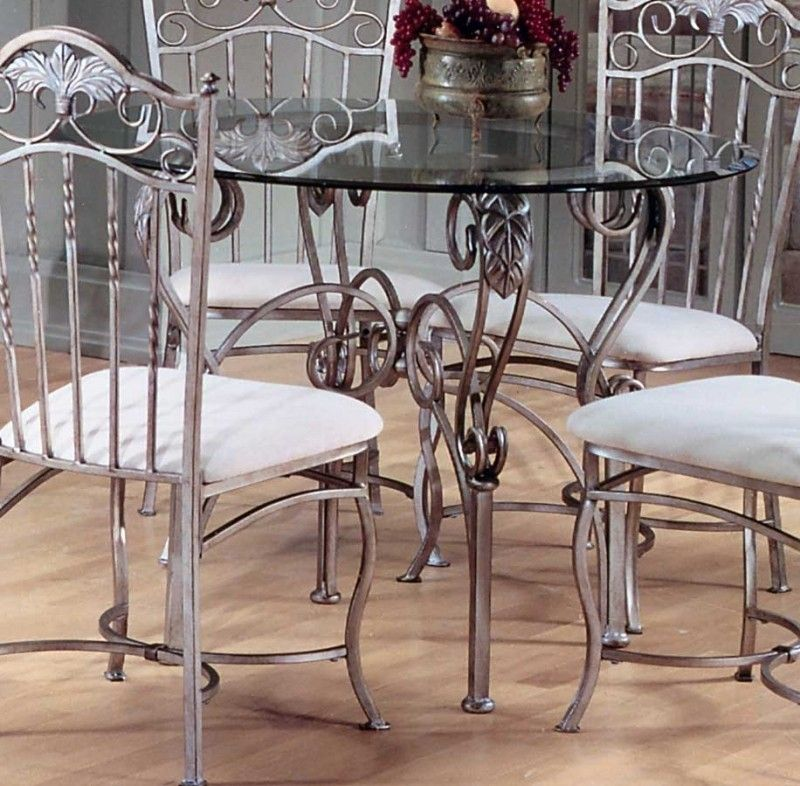 Glass Top Wrought Iron Dining Table Ideas On Foter Wrought Iron Dining Table Round Glass Dining Room Table Glass Dining Room Table