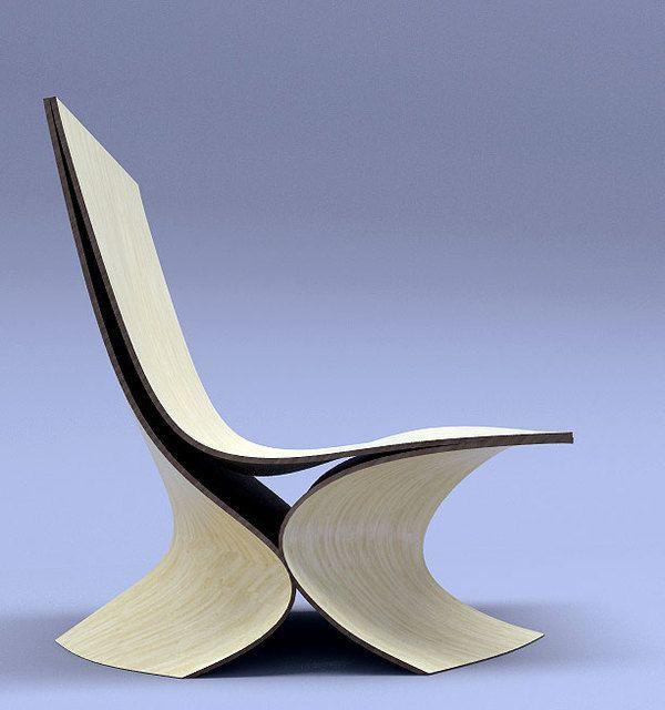 Contour Lounge chair - wood by Velichko Velikov, via Behance