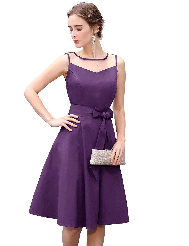Dresstells Vintage 1950s Rockabilly Illusion Dress Retro Cocktail See Through Dress Purple 2xl Amazon Co Uk Clothing Retro Dress Dresses Purple Dress