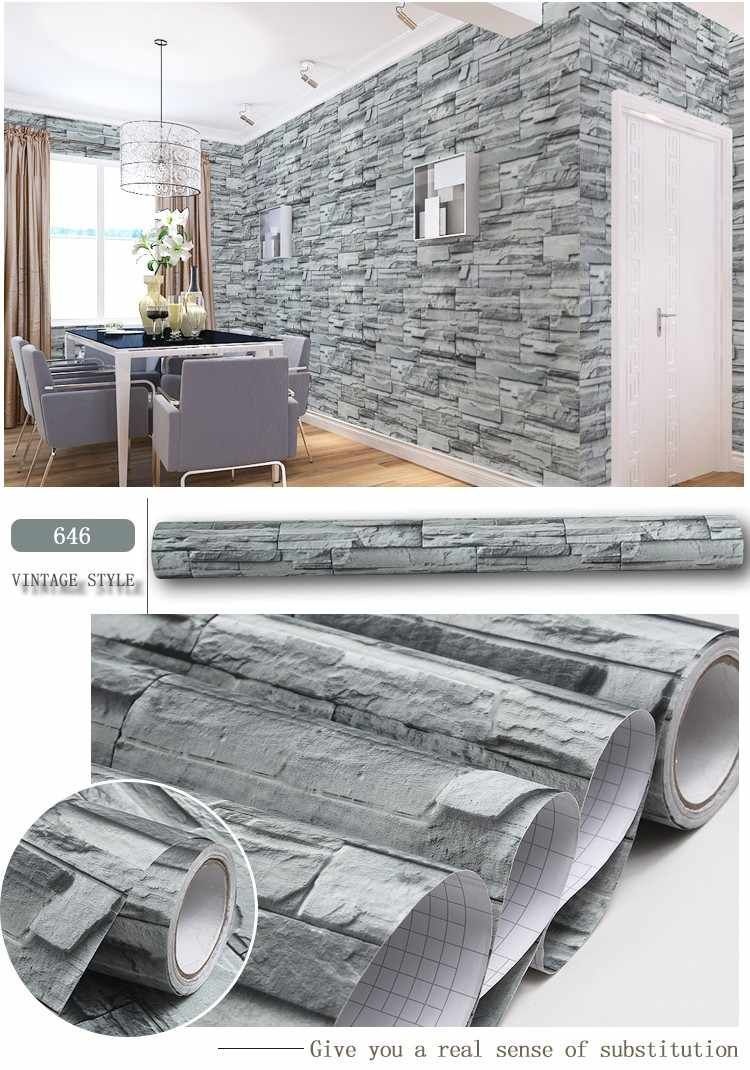 Source Modern Design 1 22 50m Roll Waterproof Self Adhesive 3d Brick Wallpaper For Household On M Alibaba Com Brick Wallpaper 3d Brick Wallpaper Wallpaper