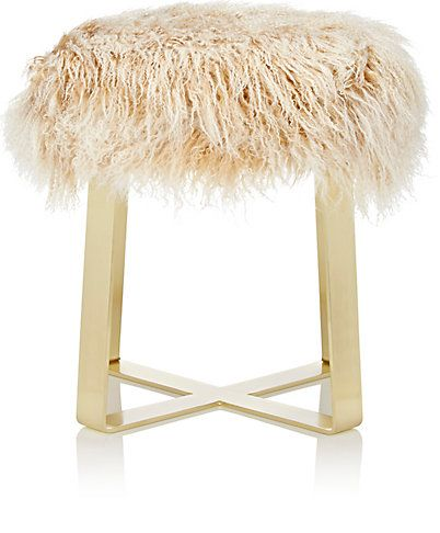 We Adore The Fur Flat Bar Stool From Barneys New York At Barneys New York Antique White Furniture Homewares Shop White Leather Dining Chairs