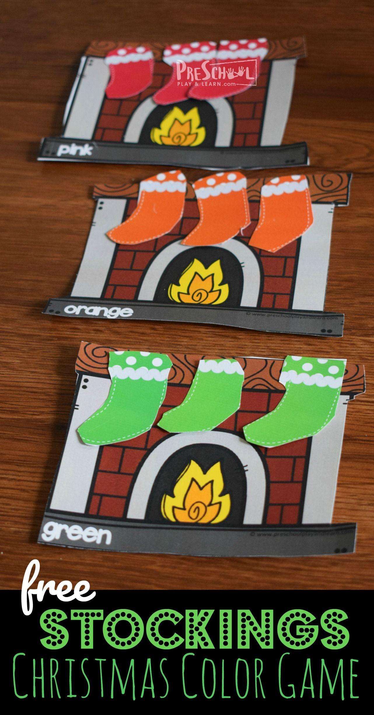 Stockings Christmas Color Game
