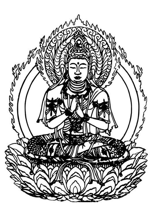 Coloring Page Buddha Img 27309 Coloring Pages Mandala Buddhist Drawings