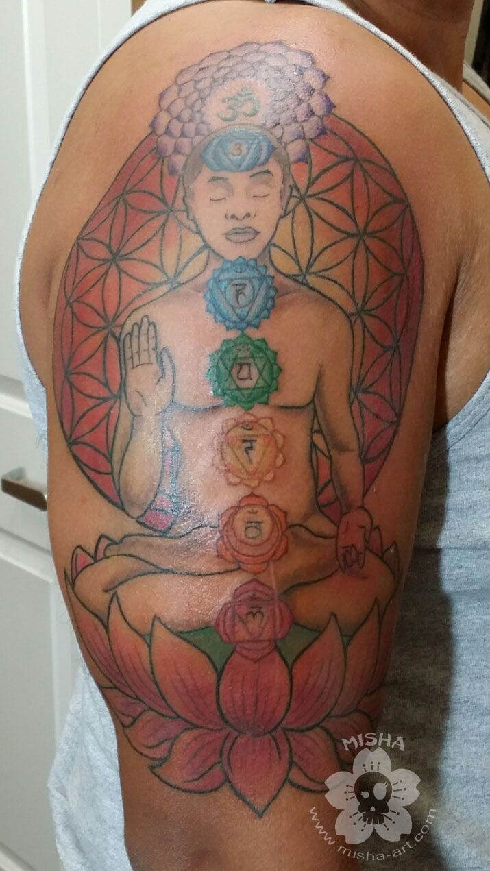 This Lovely Chakra Tattoo Shows The Wide Array Of Colors You Can See