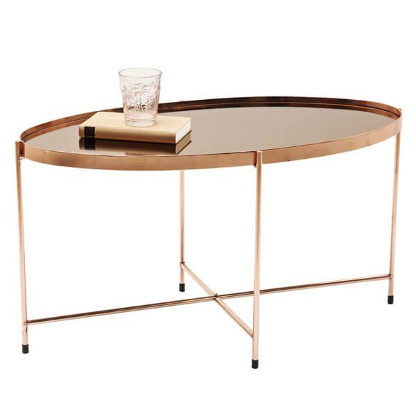 mesa de centro Miami Oval oro rosa | Tiendas On | Muebles de diseño ...