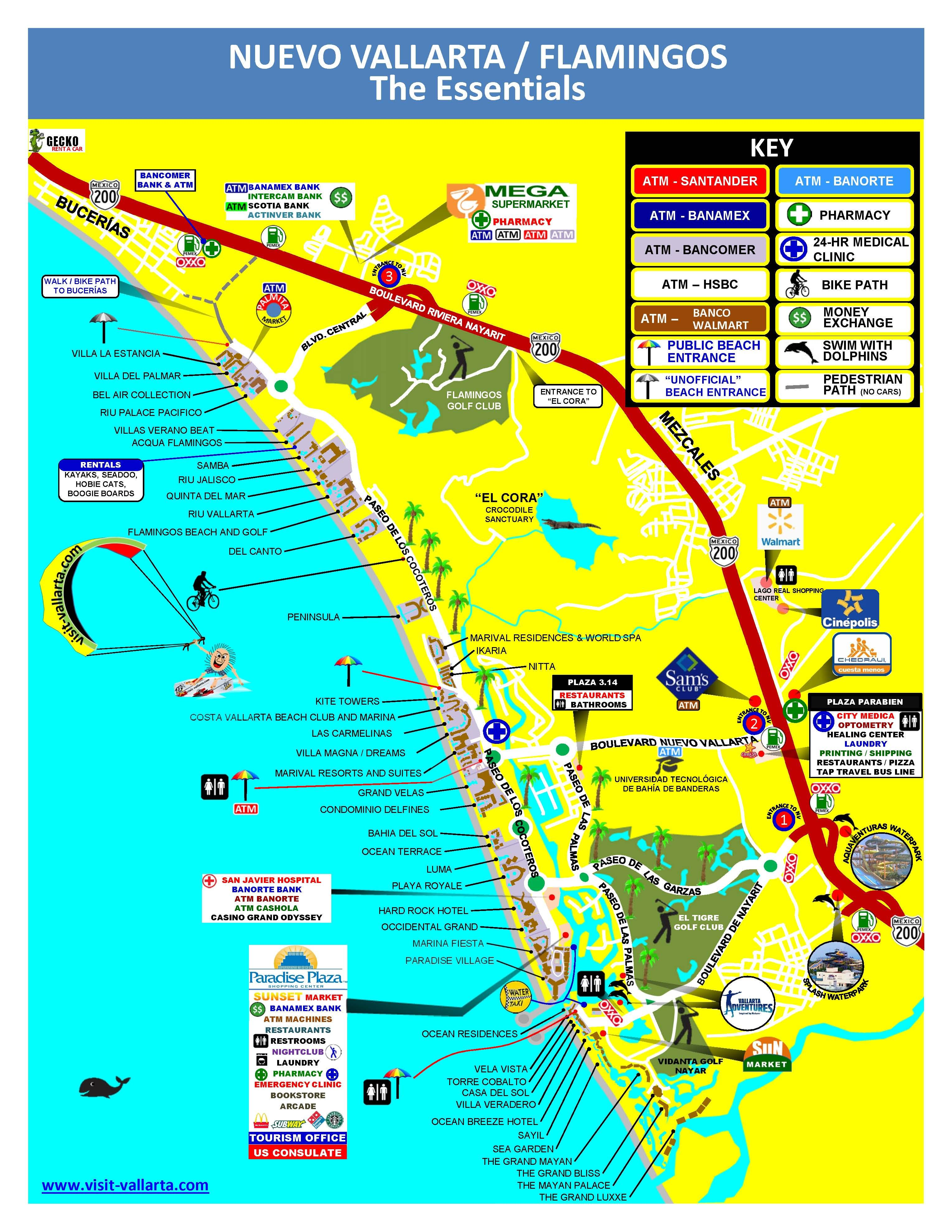 Nuevo Vallarta Map Nuevo Vallarta is just 15 minutes north of Puerto Vallarta, Mexico