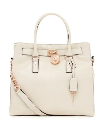 Michael Kors Hamilton Large Tote With Rose Gold Hardware
