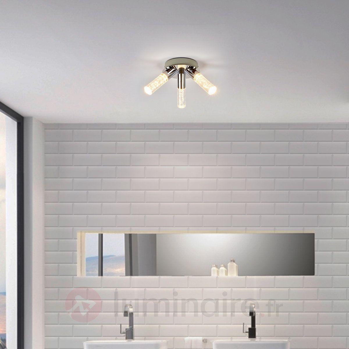 Plafonnier salle de bains LED Duncan à 3 lampes | Salle de ...