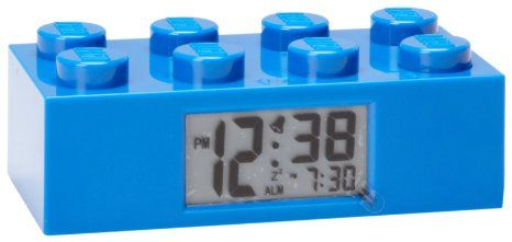 LEGO Kids' 9002151 Blue Plastic Alarm Brick Clock: Furniture & Decor: Amazon.com
