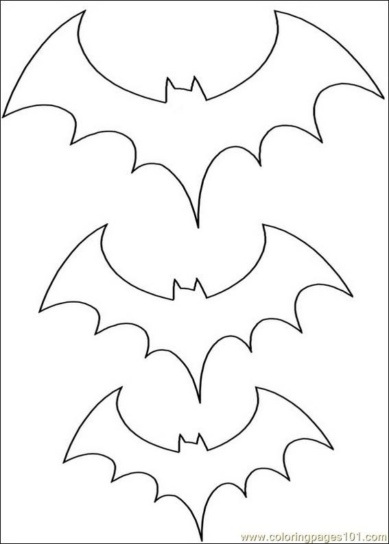 Coloring Pages Bats 017 Free Printable Halloween Coloring Pages
