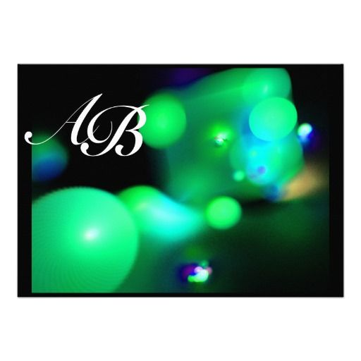 QUANTUM BUBBLE black green Personalized Invite
