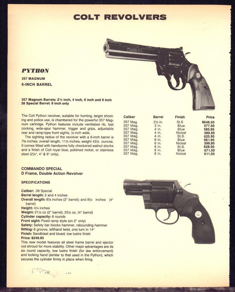 1995 COLT PYTHON 357 Magnum 6