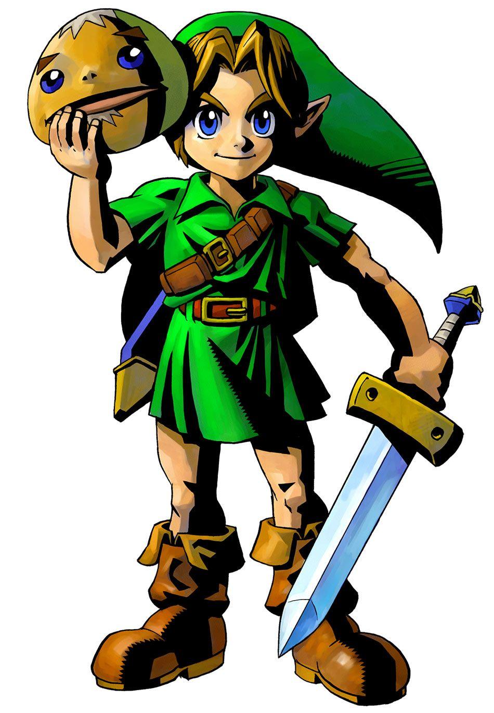The Legend Of Zelda Majora S Mask 3d Young Link Goron Mask