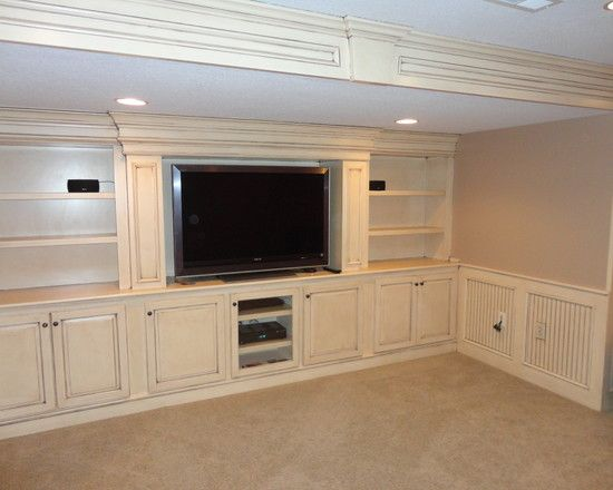 Built In Entertainment Center For Basement Possible