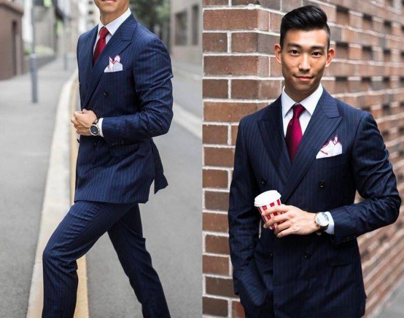 Newest Blue Striped Men\'s Suit 3Pc Groom Tuxedos Wedding Guest ...