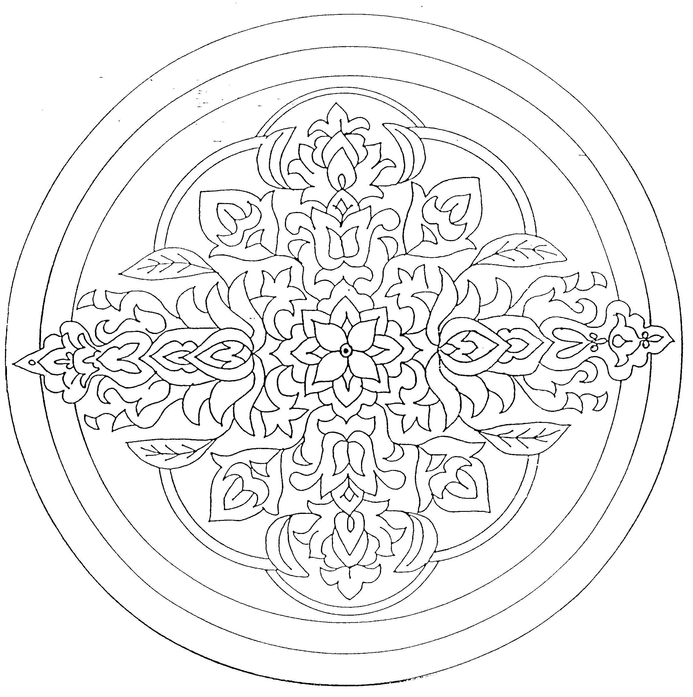 Mandalas A Colorier Mandala 20 Jpg Mandala Cizimler Sanat