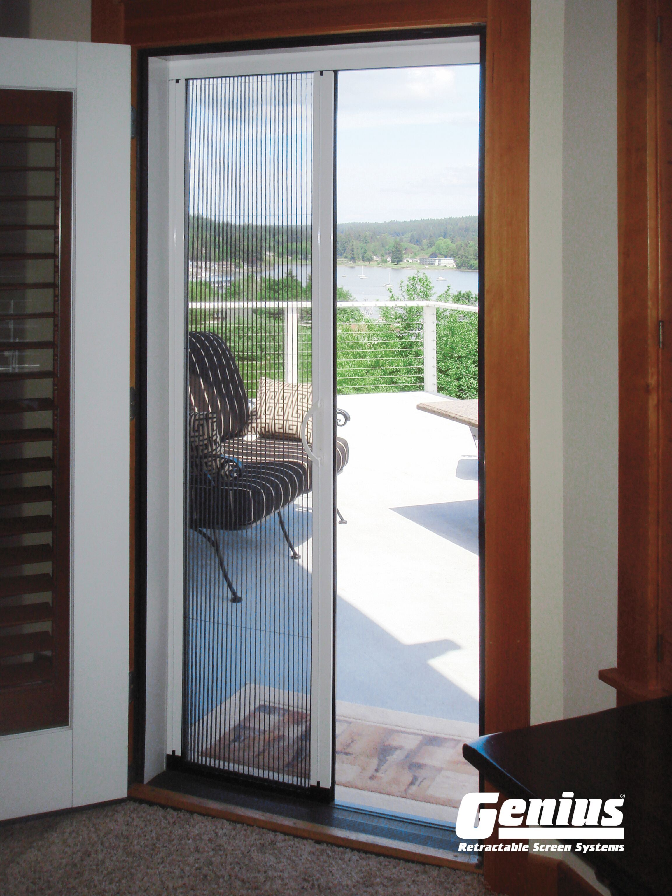 Pleated Single Or Multi Panel Retractable Door Kit Screen Door Retractable Screen Retractable Door
