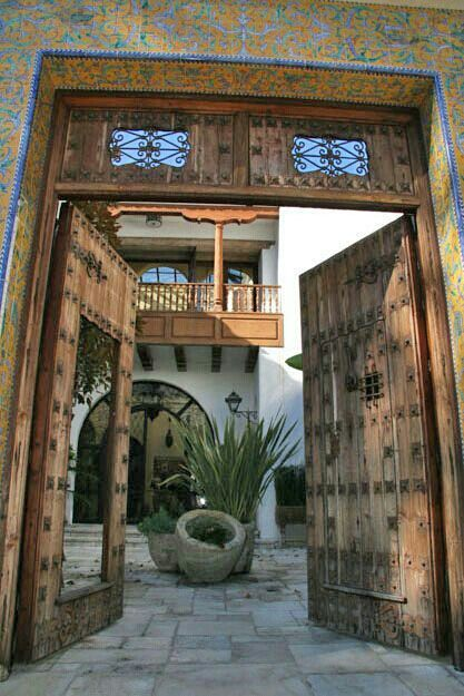 Puerta antigua de mexico ideas para el hogar fachada for Puertas blindadas antigua casa gutierrez