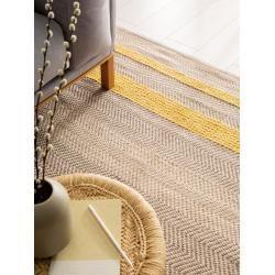Photo of benuta Naturals wool carpet Phrena yellow 160×230 cm – natural fiber carpet from Wollebenuta.de