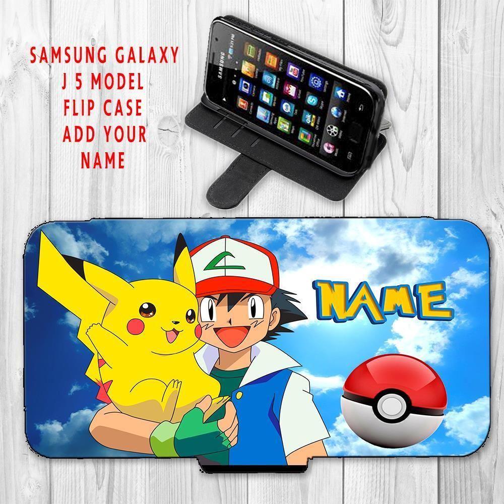 best sneakers e6938 a2314 6.99 GBP - Personalised Pokemon Themed Pk01 Samsung J5 Flip Wallet ...