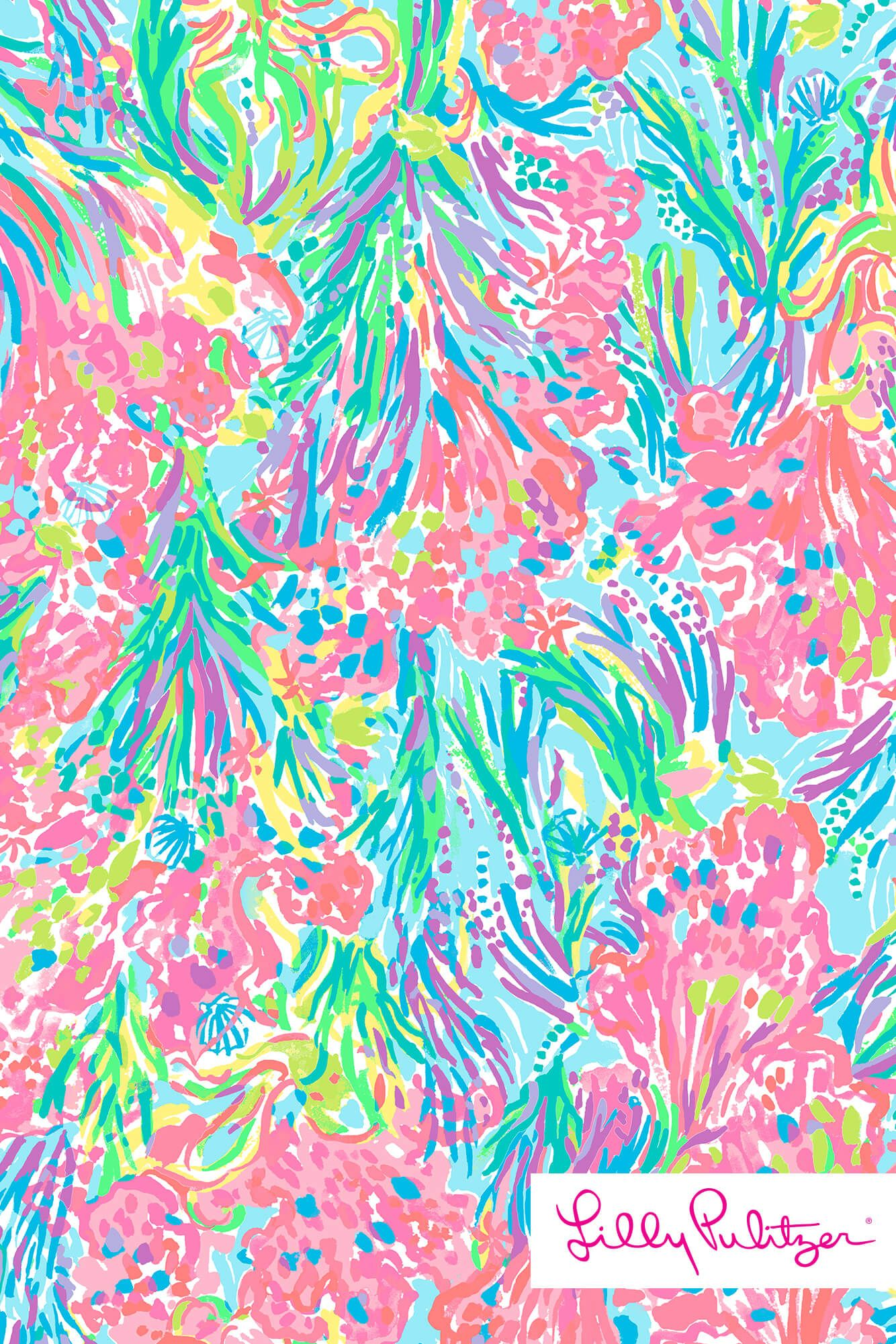 Lilly Pulitzer Palm Beach Coral Wallpaper Pinterest Palm
