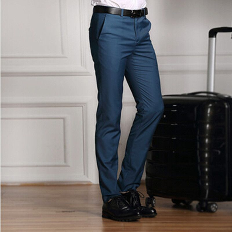 2016 New Formal Wedding Men Suit Pants Fashion Slim Fit Casual ...