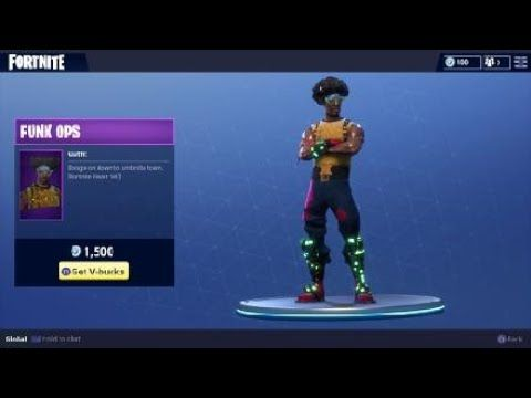 fortnite funk ops character outfit new featured costume for battle rh pinterest com