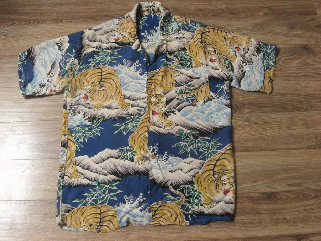 e2afcbf7a 1940's Original Tiger Hawaiian Shirt Best on eBay Size Medium Large | eBay
