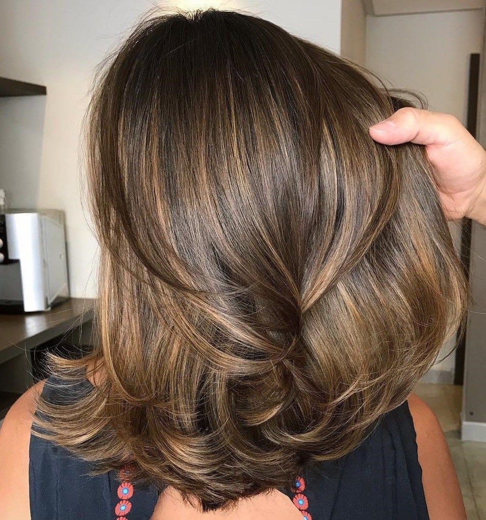 9 sensational medium length haircuts for thick hair   Mary ...