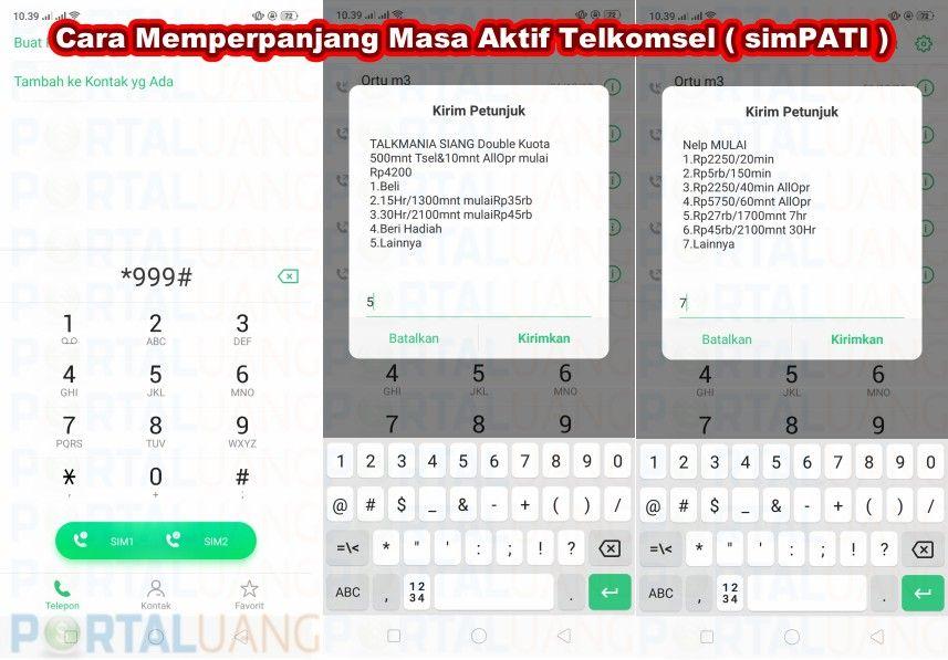 Cara Memperpanjang Masa Aktif Telkomsel Kartu Lagu Masakan