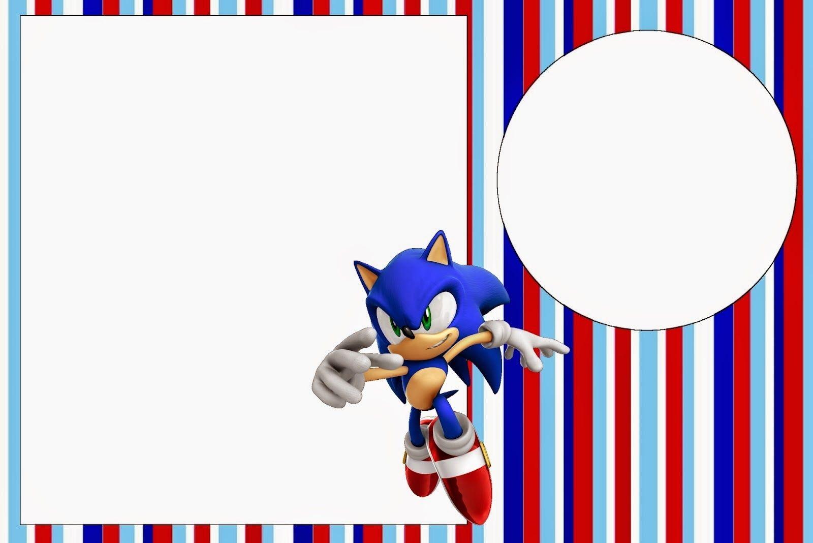 Sonic Invitaciones Para Imprimir Gratis En 2020