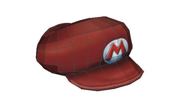 Life Size Mario S Cap Papercraft For Cosplay Free Template Download Paper Crafts Mario Cap Cool Paper Crafts