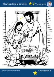 jezus geboren kleurplaat voor kleuters free printable