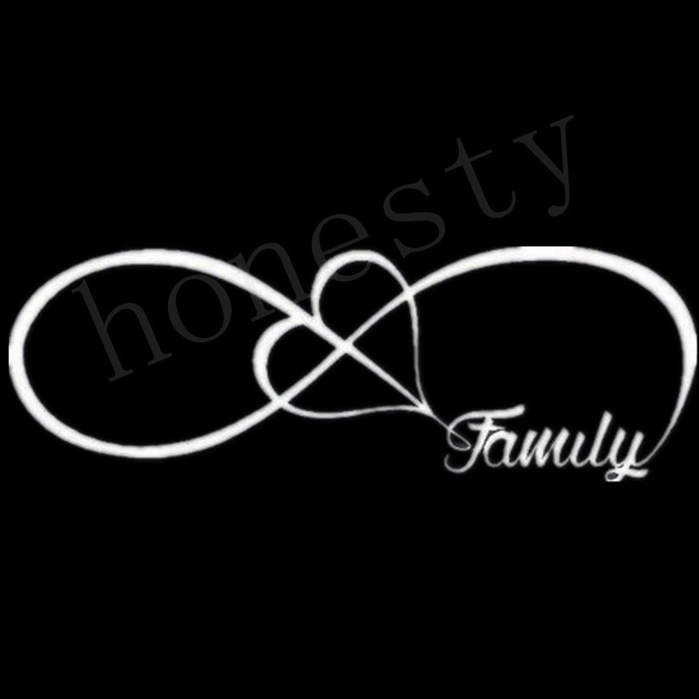 Details about family love heart infinity forever symbol vinyl details about family love heart infinity forever symbol vinyl decal car window bumper sticker biocorpaavc