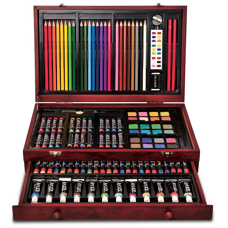 Art 101 119 Pc Wood Art Set In 2020 Wood Art Art Sets For Kids