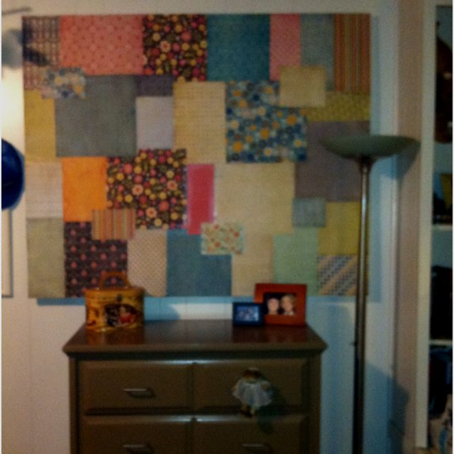 Used Scrapbook Backgrounds To Decorate Window Cover. Has