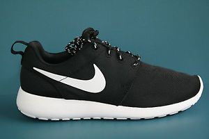 b78224b02aded 511882-010 Women s Nike ROSHE RUN BLACK-WHITE-VOLT RUNNING SHOES ...