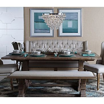 Archer Wash Oak Wood Bench Dining Room Table Oak