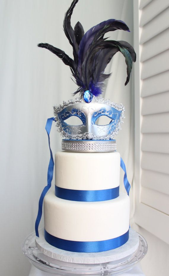 masquerade wedding cake masquerade royal blue cake topper check out this item in 17225