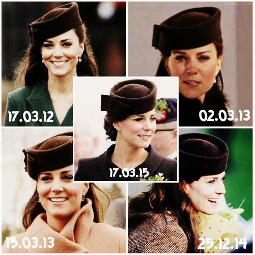 """royalassociation via hrhrroyalty: Duchess of Cambridge with her Favourite hat by Lock & Co, the """"Betty Boop""""-the Duchess has worn it more times than any other hat she owns """""""