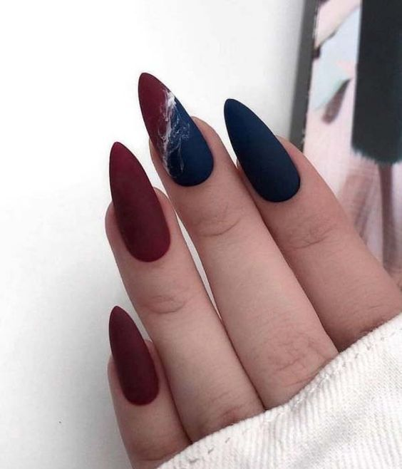 Acrylic Almond Nails Short Almond Nails Long Almond Nails 2019 Natural Almond Nails Matte Almond Matte Almond Nails Almond Nails Designs Matte Nails Design