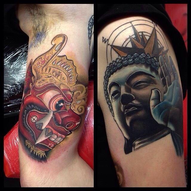 traveling tattoo buddha barong bali tatoo vorlagen pinterest tatoo und vorlagen. Black Bedroom Furniture Sets. Home Design Ideas