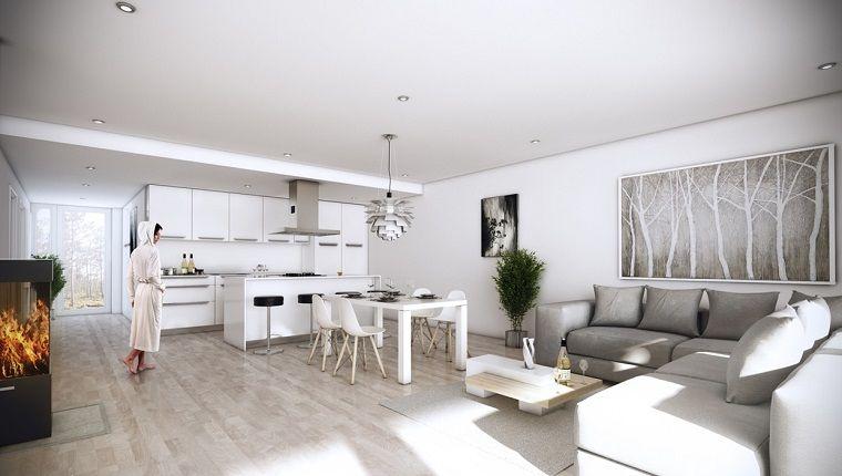 Dise o cocinas abiertas al sal n pr cticas y funcionales for Comedor estilo minimalista