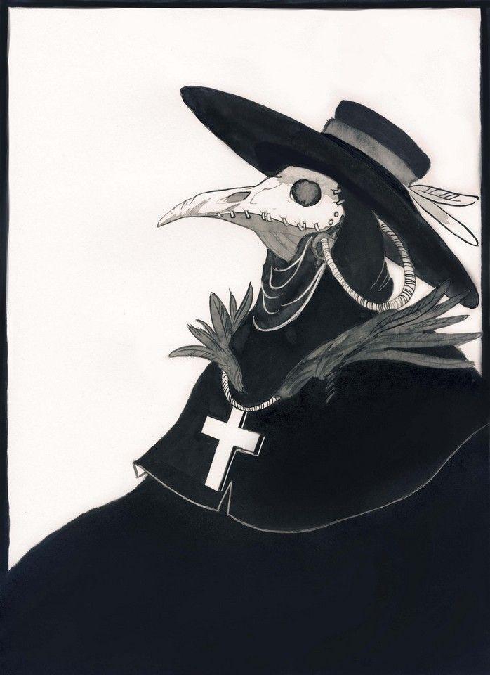 00558ad85d210 day 12 Plague Mask, Plague Doctor Mask, Plauge Doctor, Crow Mask, Inktober