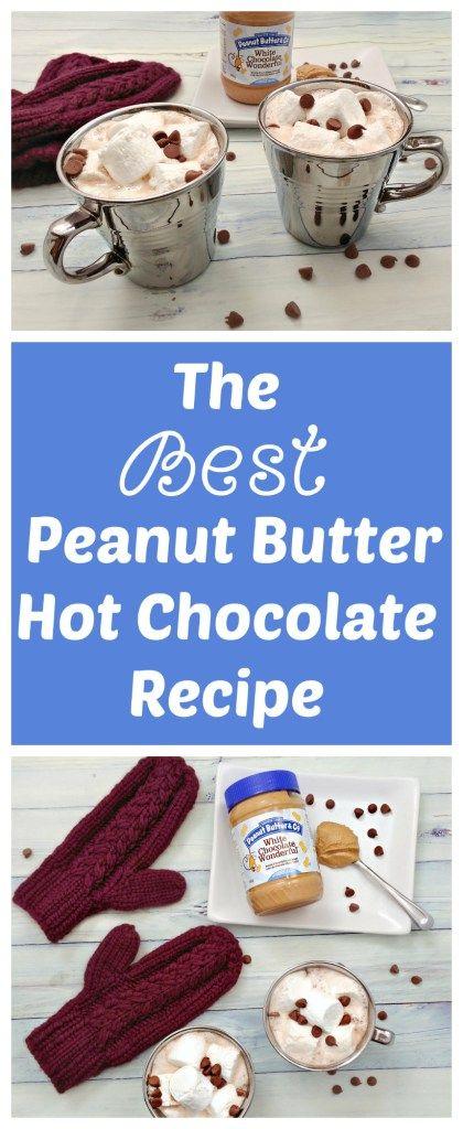 The Best Peanut Butter Hot Chocolate Recipe | knittedbliss.com