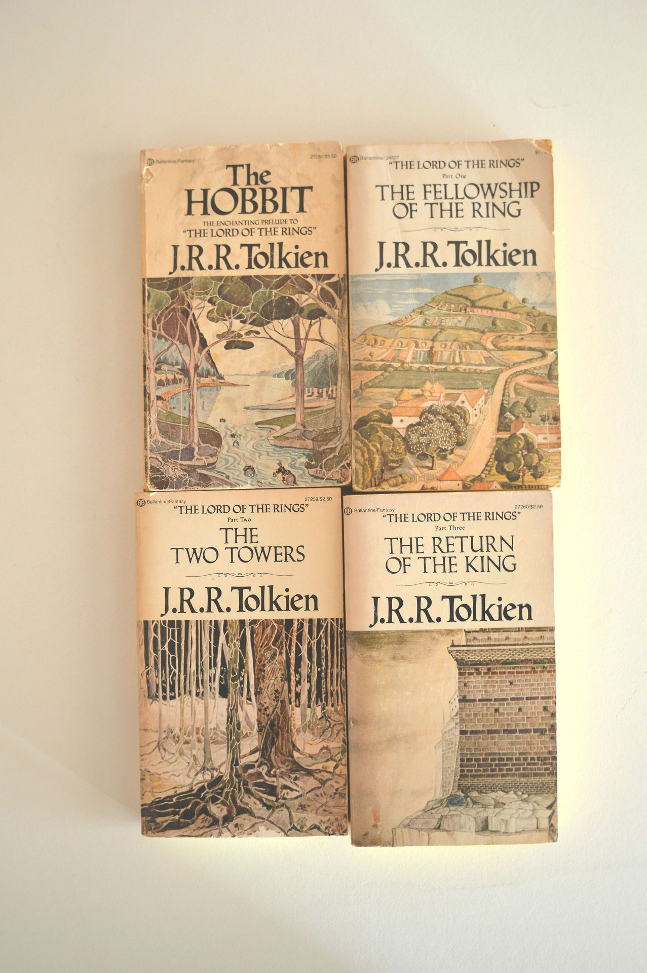 The Hobbit Old Book Cover ~ S vintage lord of the rings and hobbit set books