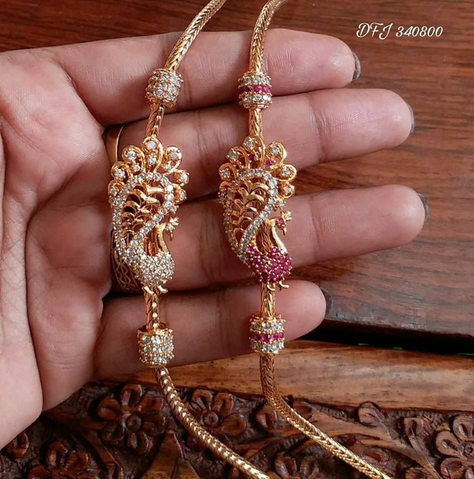 One gram gold mugappu chains thali chains with side pendent