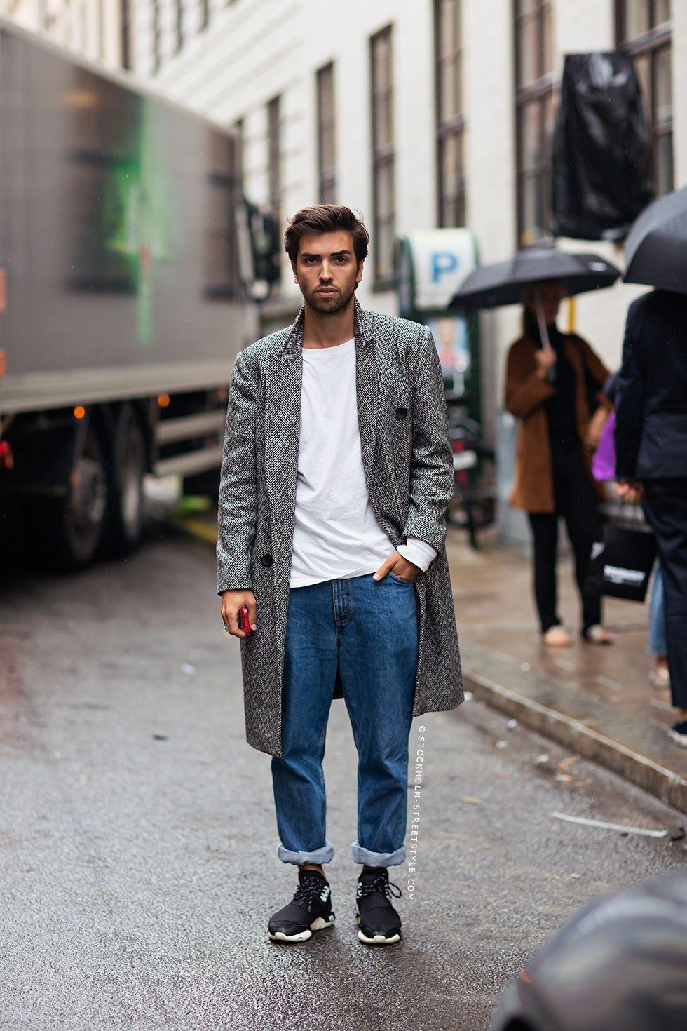 Giuliano Stockholm Streetstyle Mannen Straatmode