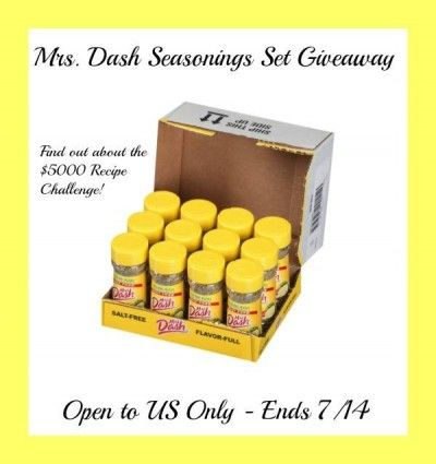 ****Win a Set of 12 Mrs. Dash Spices!**** Ends 07/14/14!! - Krazy Coupon Club