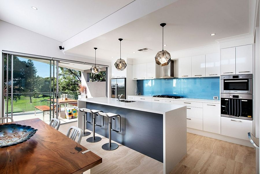 Kitchen Ideas Perth contemporary perth residence with scenic ocean views | pendant